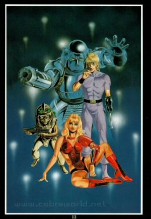 Artbook Cobra Girls 1 (1988) - Cobra et Les Croisés de l'Enfer