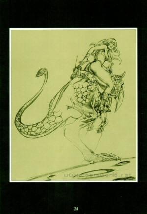 Artbook Cobra Girls 1 (1988) - Crayonné de Dominique
