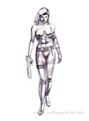 Artbook Cobra Girls 2 (1997) - Crayonné de Queen
