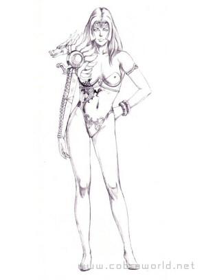 Artbook Cobra Girls 2 (1997) - Crayonné de Miss Madow