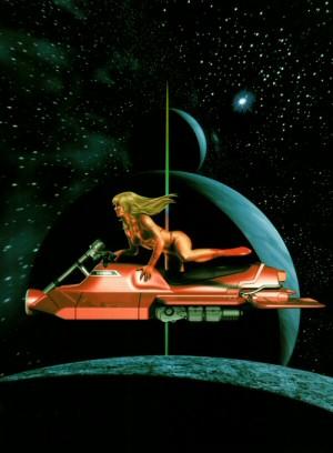 Artbook Cobra Wonder (1997) - Dominique sur la Cosmo Bike