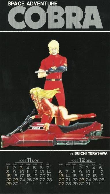 Calendrier Space Adventure Cobra 1992 - novembre/décembre