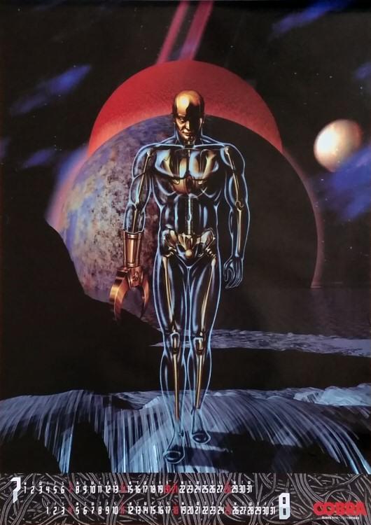Calendrier Space Adventure Cobra 1996 - juillet/août
