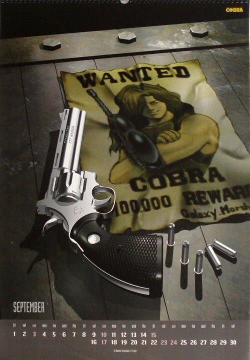 Calendrier Space Adventure Cobra 2000 - septembre