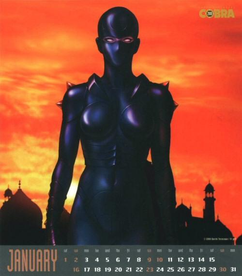 Calendrier Space Adventure Cobra Girls 2000 - janvier