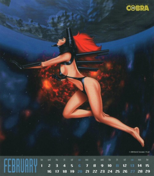 Calendrier Space Adventure Cobra Girls 2000 - février
