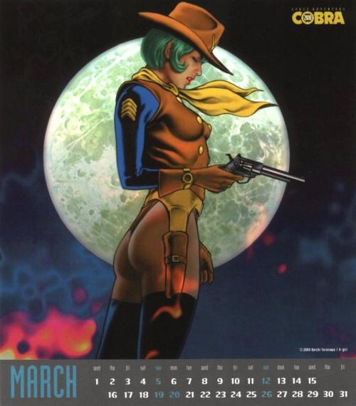 Calendrier Space Adventure Cobra Girls 2000 - mars