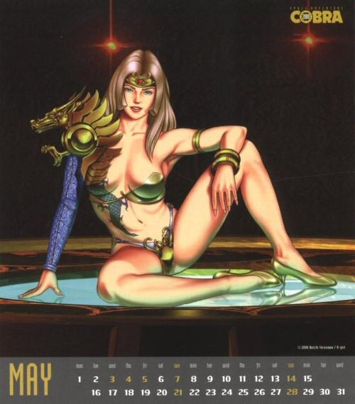 Calendrier Space Adventure Cobra Girls 2000 - mai