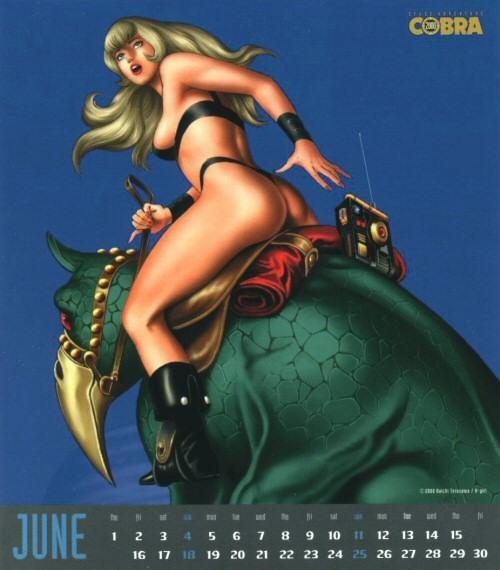 Calendrier Space Adventure Cobra Girls 2000 - juin
