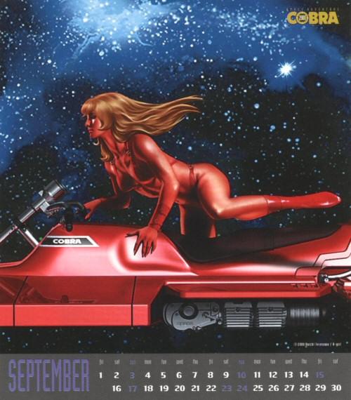 Calendrier Space Adventure Cobra Girls 2000 - septembre