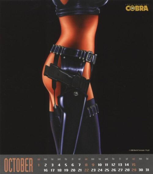 Calendrier Space Adventure Cobra Girls 2000 - octobre