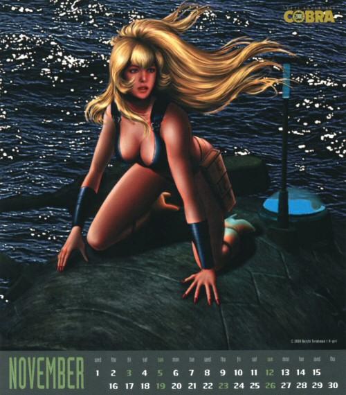 Calendrier Space Adventure Cobra Girls 2000 - novembre