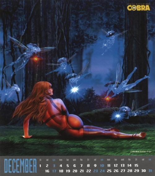 Calendrier Space Adventure Cobra Girls 2000 - décembre