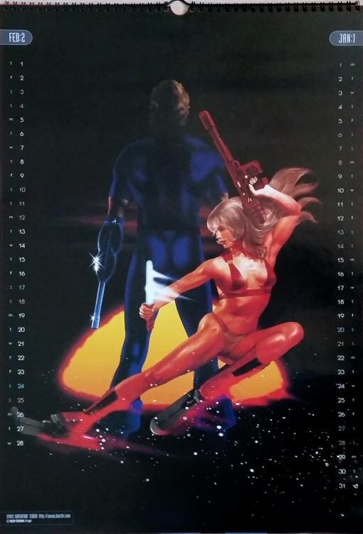 Calendrier Space Adventure Cobra 2001 - janvier/février
