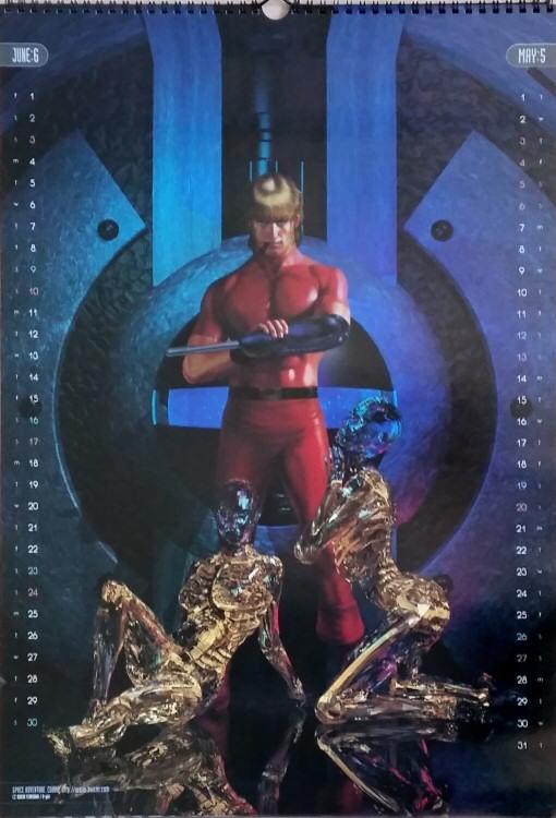 Calendrier Space Adventure Cobra 2001 - mai/juin