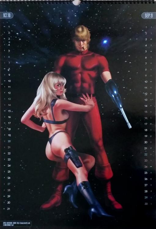 Calendrier Space Adventure Cobra 2001 - septembre/octobre