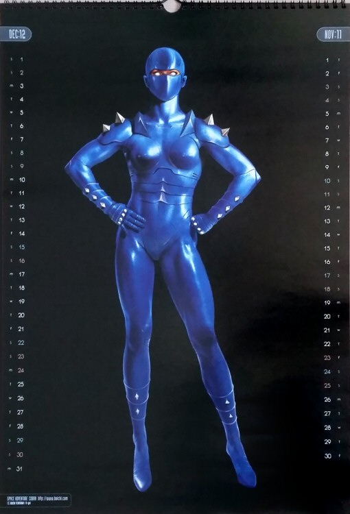 Calendrier Space Adventure Cobra 2001 - novembre/décembre