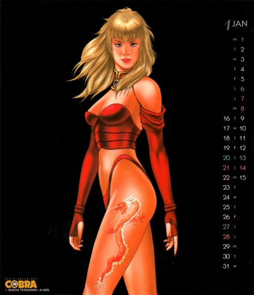 Calendrier Space Adventure Cobra Girls 2001 - janvier