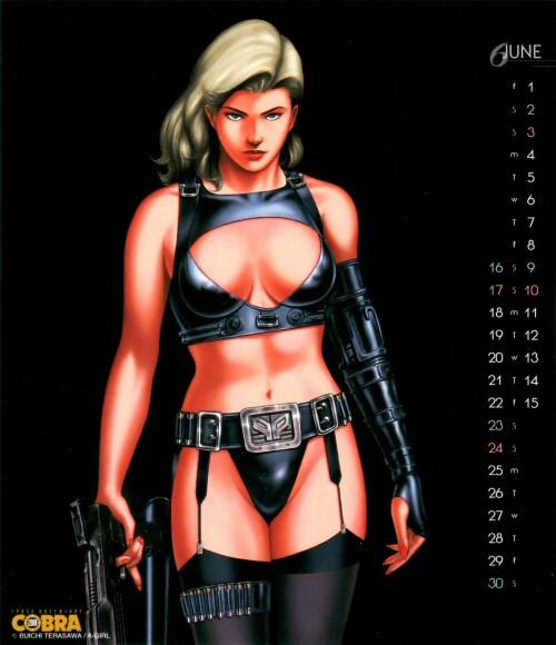 Calendrier Space Adventure Cobra Girls 2001 - juin