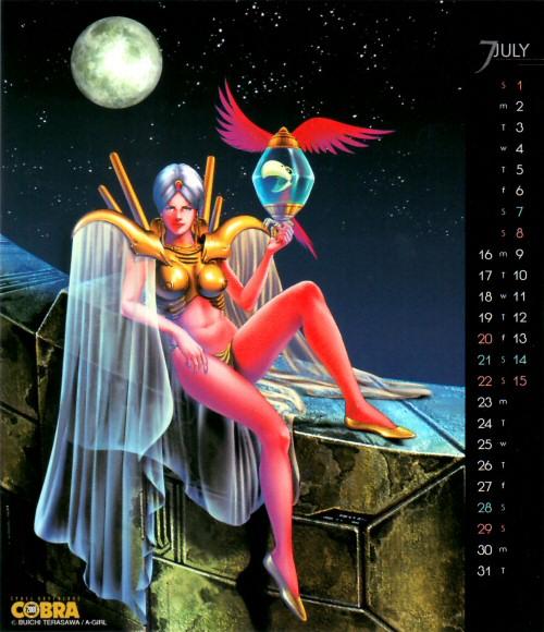 Calendrier Space Adventure Cobra Girls 2001 - juillet
