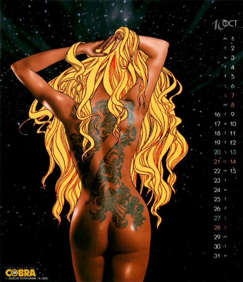 Calendrier Space Adventure Cobra Girls 2001 - octobre