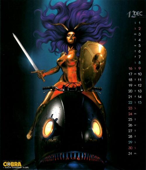 Calendrier Space Adventure Cobra Girls 2001 - décembre