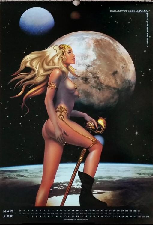 Calendrier Space Adventure Cobra 2002 - mars/avril