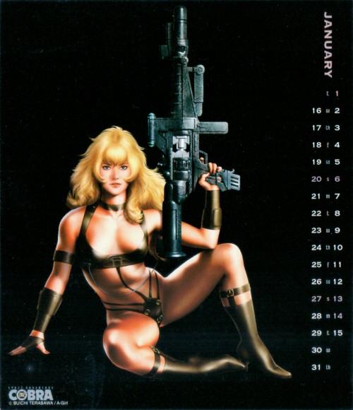 Calendrier Space Adventure Cobra Girls 2002 - janvier