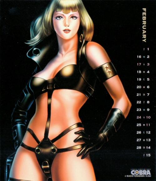 Calendrier Space Adventure Cobra Girls 2002 - février