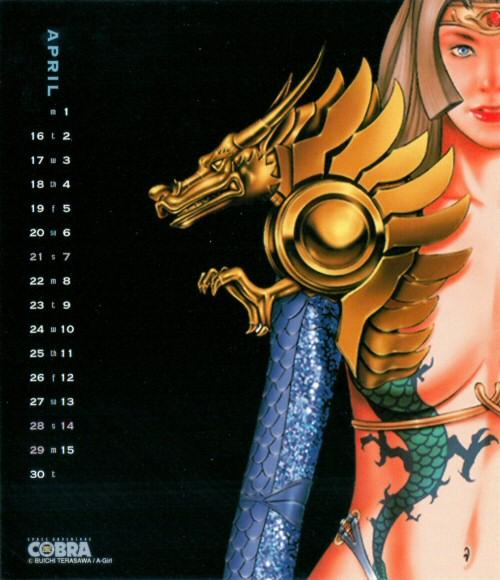 Calendrier Space Adventure Cobra Girls 2002 - avril