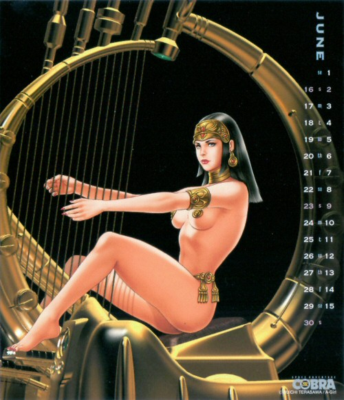 Calendrier Space Adventure Cobra Girls 2002 - juin
