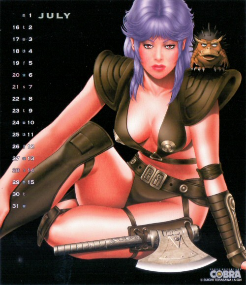 Calendrier Space Adventure Cobra Girls 2002 - juillet