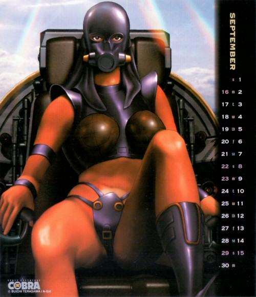 Calendrier Space Adventure Cobra Girls 2002 - septembre