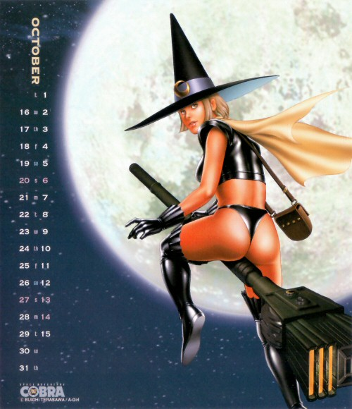 Calendrier Space Adventure Cobra Girls 2002 - octobre