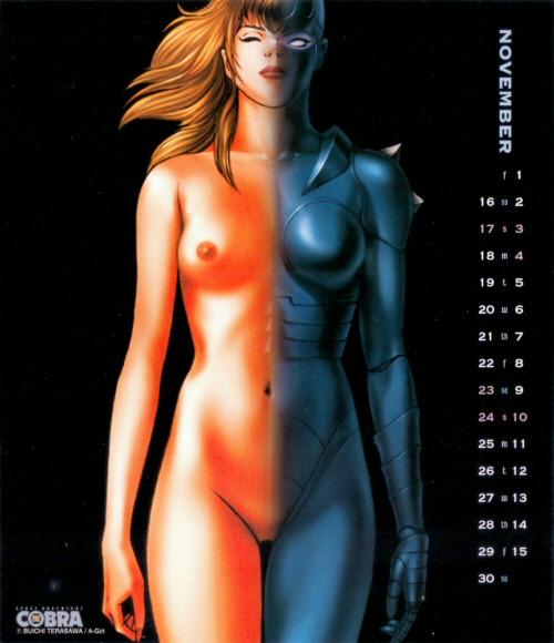 Calendrier Space Adventure Cobra Girls 2002 - novembre