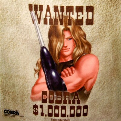 Cobra the Space Pirate - Drapeau/serviette 35x35 cm