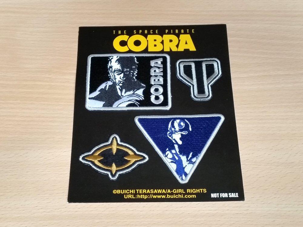 Cobra the Space Pirate - Ecussons avec le coffret bluray japonais de la série TV