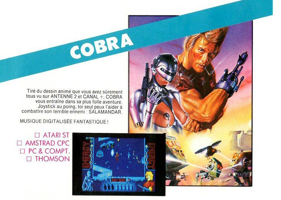 Space adventure Cobra - Jeu vidéo pour Atari ST - page 5 du catalogue Loriciels 1989