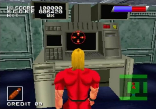 Space adventure Cobra - Jeu Cobra The Shooting sur Sony PS1 (1996)