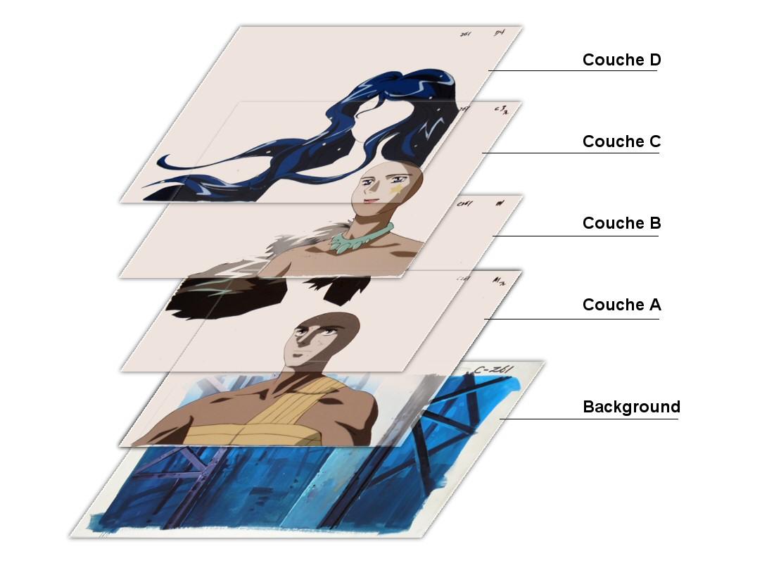 Space Cobra - celluloïds - Numérotation des couches